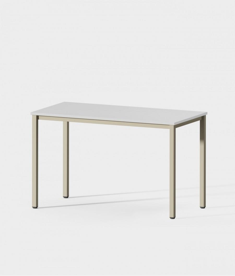 Mesa madera blanca 120 perspectiva