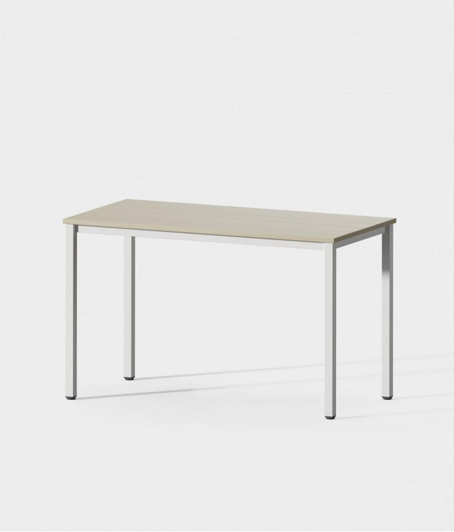 Mesa blanca madera 120 perspectiva