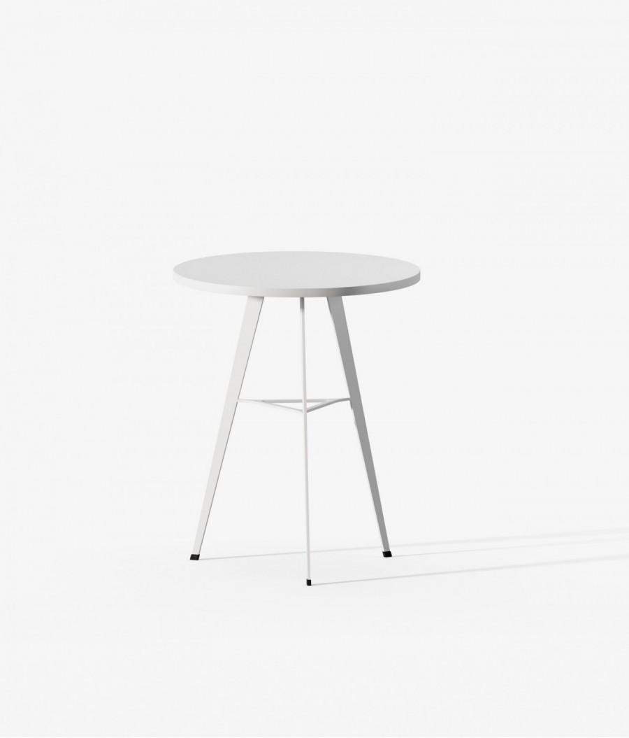 Mesa auxiliar blanca blanca perspectiva