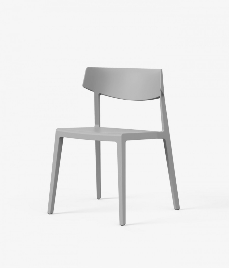 silla wing perspectiva gris