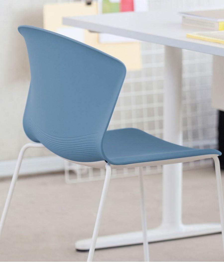 silla auxiliar whass azul perspectiva