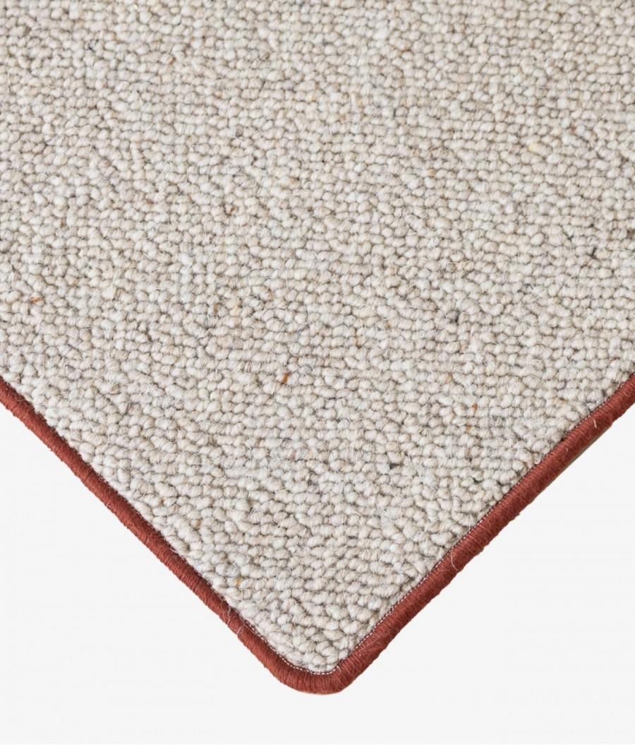 alfombras lana teja